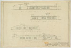 Primary view of object titled 'School Building, Hermleigh, Texas: Elevations'.