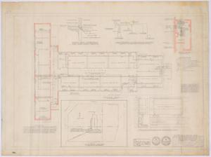 Primary view of object titled 'Elementary School Alterations, Ozona, Texas: Plumbing and Heating Plan'.