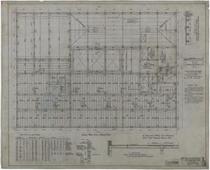 Primary view of object titled 'Abilene Hotel: Sample Room Floor Framing Plan'.