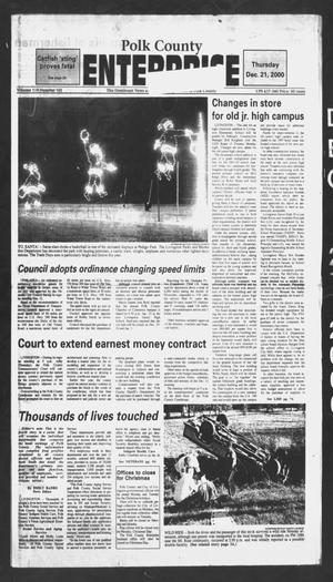 Primary view of object titled 'Polk County Enterprise (Livingston, Tex.), Vol. 118, No. 101, Ed. 1 Thursday, December 21, 2000'.