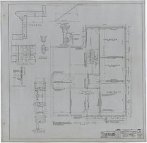 Primary view of object titled 'High School Building Addition, Rule, Texas: Second Floor Plan'.