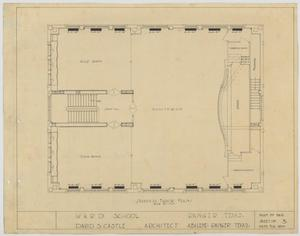 Primary view of object titled 'Ward School Building, Ranger, Texas: Second Floor Plan'.