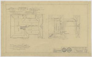 Primary view of object titled 'Field House and Primary School, Kermit, Texas: Roof Framing and Details'.