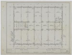 Primary view of object titled 'Ward School Building, Ranger, Texas: Second Floor Framing Plan'.