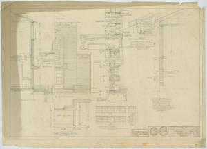 Primary view of object titled 'School Building, Hermleigh, Texas: Various Details'.