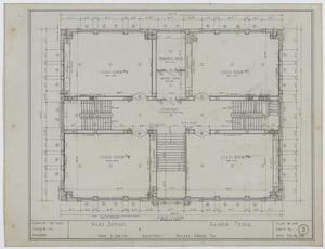 Primary view of object titled 'Ward School Building, Ranger, Texas: First Floor Plan'.