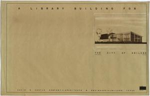 Primary view of object titled 'Abilene Public Library, Abilene, Texas: Title Page'.