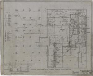 Primary view of object titled 'Abilene Hotel Mechanical Plans: Basement Plan'.