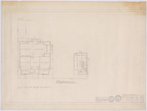 Primary view of object titled 'Silver Peak School Alterations, Silver, Texas: Piping Plan for Butane Gas Service'.
