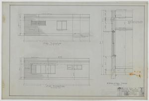 Primary view of object titled 'School Building, Sedwick, Texas: Elevations'.