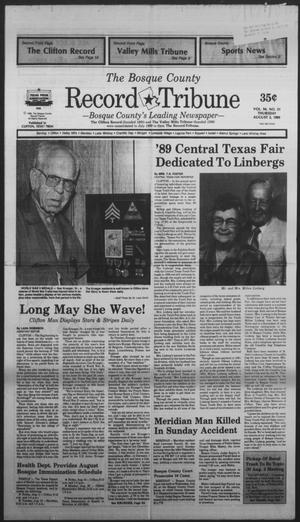 Primary view of object titled 'The Bosque County Record Tribune (Clifton, Tex.), Vol. 94, No. 31, Ed. 1 Thursday, August 3, 1989'.