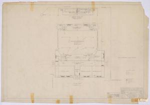 Primary view of object titled 'High School Building, Paint Rock, Texas: Floor Plan'.