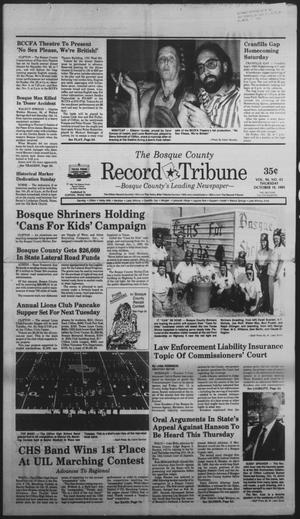 Primary view of object titled 'The Bosque County Record Tribune (Clifton, Tex.), Vol. 94, No. 42, Ed. 1 Thursday, October 19, 1989'.