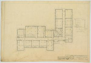 Primary view of object titled 'School Building, Hermleigh, Texas: Floor Plan'.