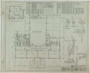 Primary view of object titled 'School Building, Kermit, Texas: Ground Level Framing Plan'.