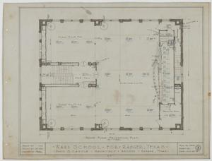 Primary view of object titled 'Ward School Building, Ranger, Texas: Second Floor Mechanical Plan'.