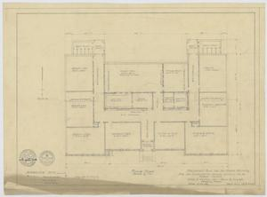 Primary view of object titled 'School Building Plans, Ira, Texas: Floor Plan'.