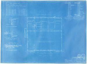 Primary view of object titled 'Sterling County Courthouse: Roof Framing Plan'.