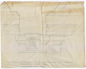 Primary view of object titled 'Breckenridge Courthouse: Full Size Details of Pilaster Cap & Cornice Second Floor Corridor'.