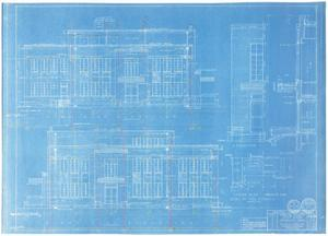 Primary view of object titled 'Sterling County Courthouse: Left and Right Side Elevations'.