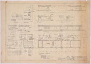 Primary view of object titled 'Elementary School Alterations, Ozona, Texas: Floor Plan and Elevations'.