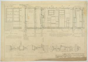 Primary view of object titled 'School Building, Ira, Texas: Details of Corridors and Walls'.