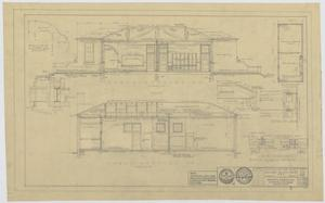Primary view of object titled 'Field House and Primary School, Kermit, Texas: Cross Sections'.