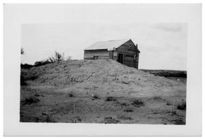 Primary view of object titled '[Barn Next to a Hill]'.