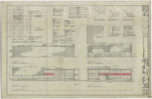 Primary view of object titled 'Abilene Public Library, Abilene, Texas: Elevations and Details'.