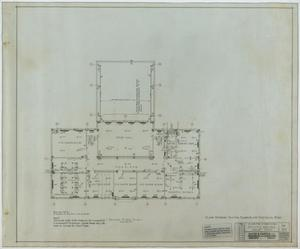 Primary view of object titled 'School Building, Kermit, Texas: Second Level Floor Plan'.