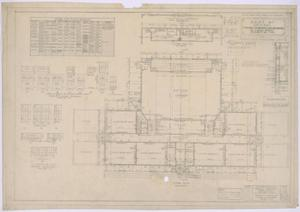 Primary view of object titled 'Grade School, Knox City, Texas: Floor Plan and Schedules'.