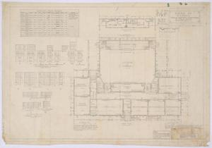 Primary view of object titled 'High School Building, Paint Rock, Texas: Plans and Schedules'.