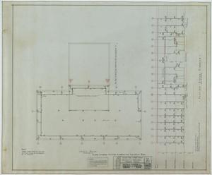 Primary view of object titled 'School Building, Kermit, Texas: Attic Floor Plan'.