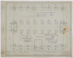 Primary view of object titled 'Ward School Building, Ranger, Texas: Footing Plan'.