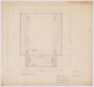 Primary view of object titled 'High School Gymnasium Proposal, Ozona, Texas: Second Floor Plan'.