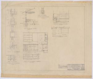 Primary view of object titled 'School Building, Pecos County, Texas: Details'.