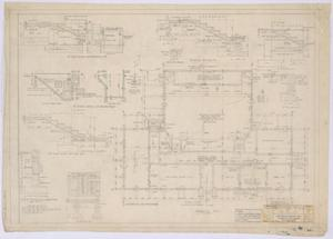 Primary view of object titled 'High School Building, Paint Rock, Texas: Foundation Plan and Details'.