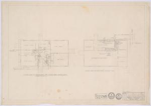 Primary view of object titled 'Silver Peak School Alterations, Silver, Texas: Floor Plans'.