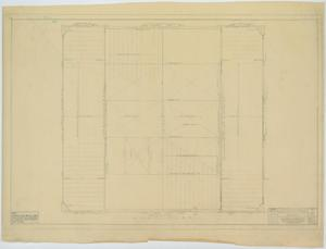 Primary view of object titled 'School Auditorium/Gymnasium, Hawley, Texas: Roof Plan'.