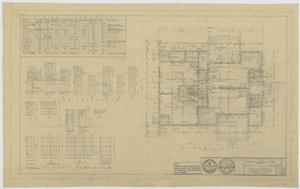 Primary view of object titled 'Field House and Primary School, Kermit, Texas: Floor Plan and Window Schedule'.