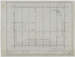 Primary view of object titled 'Ward School Building, Ranger, Texas: Roof Framing Plan'.