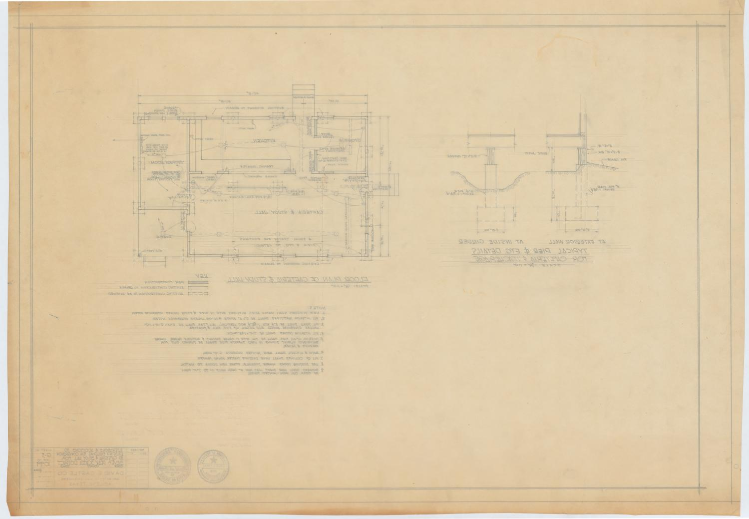 Silver Peak School Alterations, Silver, Texas: Floor Plan                                                                                                      [Sequence #]: 2 of 2