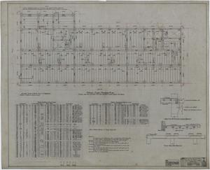 Primary view of object titled 'Abilene Hotel: Typical Floor Framing Plan'.