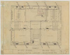 Primary view of object titled 'Ward School Building, Ranger, Texas: Ground Floor Plan'.