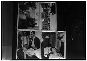 Primary view of object titled '[Clyde Barrow and Bonnie Parker in Morgue, Getaway Car and Funeral]'.