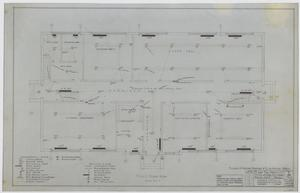 Primary view of object titled 'High School, Knox City, Texas: First Story Mechanical Plan'.