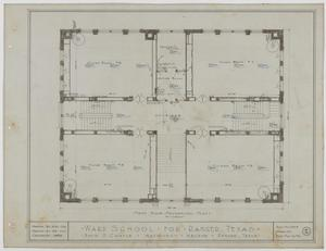 Primary view of object titled 'Ward School Building, Ranger, Texas: First Floor Mechanical Plan'.