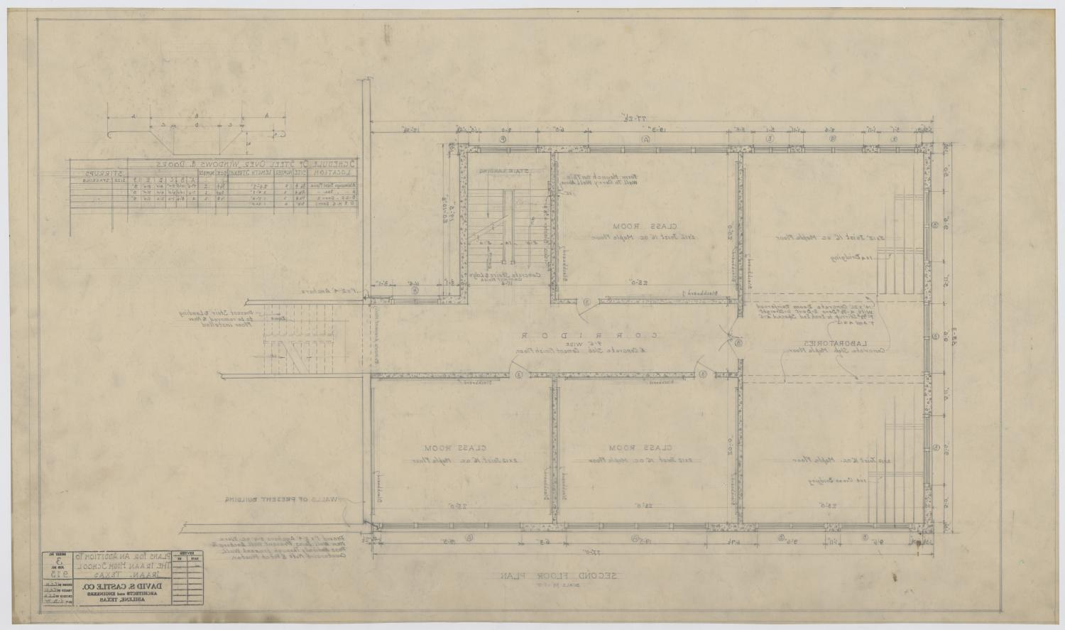 Iraan High School Addition: Second Floor Plan                                                                                                      [Sequence #]: 2 of 2