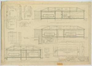 Primary view of object titled 'School Building, Hermleigh, Texas: Cross Sections'.