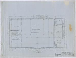 Primary view of object titled 'High School, Knox City, Texas: Second Story Floor Plan'.